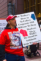 Chicago Protest Against Wisconsin Governor Scott Walker 4-20-12