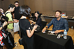 Actors Mischa Collins and Mark Sheppard from the TV series Supernatual attend the Hollywood Collectors Convention No.15 on June 30, 2018, Tokyo, Japan. (Photo by Sho Tamura/AFLO)