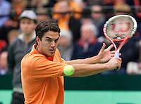 12-02-12, Netherlands,Tennis, Den Bosch, Daviscup Netherlands-Finland, Jesse Huta Galung   Harri Heliovaara