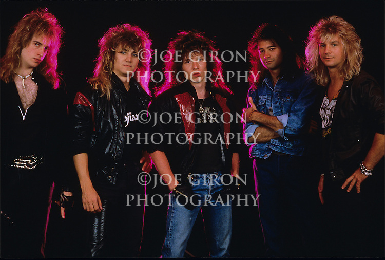 Various portrait sessions of the rock band, Fifth Angel