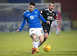 St Johnstone v Hamilton Accies…19.01.19…   McDiarmid Park    Scottish Cup 4th Round<br />Tony Watt and Dougie Imrie<br />Picture by Graeme Hart. <br />Copyright Perthshire Picture Agency<br />Tel: 01738 623350  Mobile: 07990 594431
