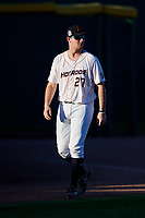 Bowling Green Hot Rods pitcher Justin Marsden (27) before a game against the Peoria Chiefs on September 15, 2018 at Bowling Green Ballpark in Bowling Green, Kentucky.  Bowling Green defeated Peoria 6-1.  (Mike Janes/Four Seam Images)