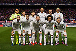 Players of Real Madrid pose for a photo during their La Liga match between Atletico de Madrid and Real Madrid at the Vicente Calderón Stadium on 19 November 2016 in Madrid, Spain. Photo by Diego Gonzalez Souto / Power Sport Images
