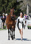 April 23, 2014: Anthony Patch and Laine Ashker during the first horse inspection at the Rolex Three Day Event in Lexington, KY at the Kentucky Horse Park.  Anthony Patch did not pass vet inspection and will not continue in the competition.  Candice Chavez/ESW/CSM