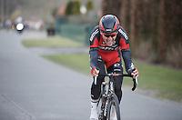 Greg Van Avermaet (BEL/BMC) is the sole leader with less than 10km to go<br /> <br /> 71st Dwars door Vlaanderen (1.HC)