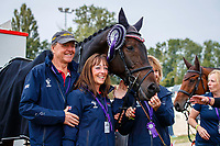 The new FEI European Eventing Champion, JL Dublin, during the Prizegiving. 2021 SUI-FEI European Eventing Championships - Avenches. Switzerland. Sunday 26 September 2021. Copyright Photo: Libby Law Photography