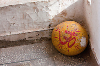 "India, Rishikesh.  Tera Manzil Hindu Temple.  ""Om"" Symbol, Sanscrit sound used at the beginning and end of sacred Hindu texts."