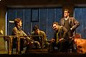 "English National Opera present their fourth revival of Jonathan Miller's production of Puccini's ""La Boheme"", in which Natalya Romaniw makes her ENO debut. Cast is: Natalya Romaniw (Mimi), Jonathan Tetelman (Rodolfo), Nicholas Lester (Marcello), Simon Butteriss (Benoit/Alcindoro), Nadine Benjamin (Musetta), David Soar (Colline), Bozidar Smiljanic (Schaunard). Picture shows: Nicholas Lester (Marcello), Jonathan Tetelman (Rodolfo), David Soar (Colline), Bozidar Smiljanic (Schaunard)"
