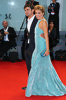Riccardo Scamarcio and Valeria Golino attend the red carpet for the premiere of the movie 'Per Amor Vostro' during the 72nd Venice Film Festival at the Palazzo Del Cinema in Venice, Italy, September 11, 2015.<br /> UPDATE IMAGES PRESS/Stephen Richie