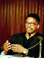 Montreal (Qc) CANADA, June 27 1997-<br />  Herbie Hancock  press conference at<br /> Montreal Jazz Festival<br /> -Photo (c)  Images Distribution