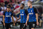 FC Internazionale Defender Milan Skriniar (R) and FC Internazionale Midfielder Geoffrey Kondogbia (L) during the International Champions Cup match between FC Bayern and FC Internazionale at National Stadium on July 27, 2017 in Singapore. Photo by Marcio Rodrigo Machado / Power Sport Images