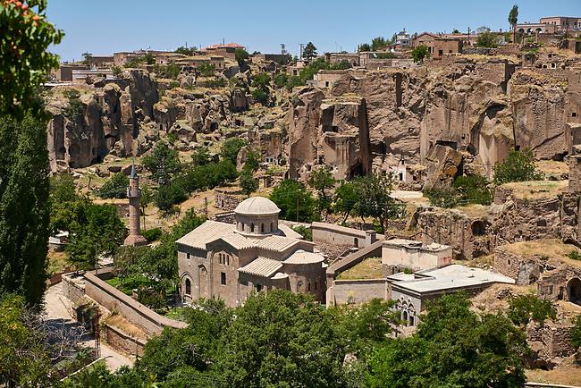 "Pictures & images of Guzelyurt Chuch Mosque, formely St Gregorius church,  9th century, the Vadisi Monastery Valley, ""Manastır Vadisi"",  of the Ihlara Valley, Guzelyurt , Aksaray Province, Turkey."