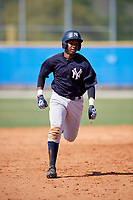New York Yankees Terrance Robertson (70) during a Minor League Spring Training game against the Toronto Blue Jays on March 18, 2018 at Englebert Complex in Dunedin, Florida.  (Mike Janes/Four Seam Images)