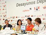 Desayunos Deportivos de Europa Press con atletas discapacitados.