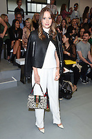 Rosie Fortescue<br /> at the Eudon Choi catwalk show as part of London Fashion Week SS17, Brewer Street Car Park, Soho London<br /> <br /> <br /> ©Ash Knotek  D3155  16/09/2016