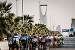 Action from Stage 5 of the Saudi Tour 2020 running 144km from Princess Nourah University to Al Masmak, Saudi Arabia. 8th February 2020. <br /> Picture: ASO/Pauline Ballet | Cyclefile<br /> All photos usage must carry mandatory copyright credit (© Cyclefile | ASO/Pauline Ballet)