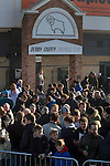 Derby County 1 Nottingham Forest 2, 17/01/2015. iPro Stadium, Championship. Home supporters gathering in an outside bar outside the iPro Stadium before Derby Country's Championship match against Nottingham Forest. The match was won by the visitors by 2 goals to 1, watched by a derby-day crowd of 32,705. The stadium, opened in 1997, was formerly known as Pride Park. Photo by Colin McPherson.
