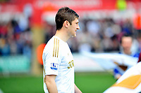 Pictured: Ben Davies.<br /> Saturday 04 May 2013<br /> Re: Barclay's Premier League, Swansea City FC v Manchester City at the Liberty Stadium, south Wales.