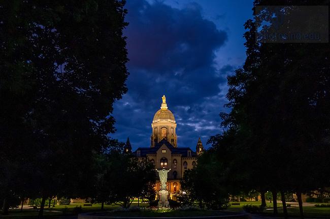 June 23, 2020; Main Quad (Photo by Matt Cashore/University of Notre Dame)