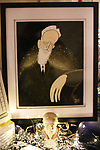 """George Bernard Shaw artwork by Justin """"Squigs"""" Rovertson at the Gingold Theatrical Group's Golden Shamrock Gala at 3 West Club on March 16, 2019 in New York City."""