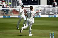 27th May 2021; Emirates Old Trafford, Manchester, Lancashire, England; County Championship Cricket, Lancashire versus Yorkshire, Day 1; First blood to Lancashire as Tom Bailey of Lancashire has Adam Lyth of Yorkshire caught by Danny Lamb