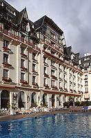 """Europe/France/Pays de la Loire/44/Loire Atlantique/La Baule: L'hôtel """"Hermitage"""" - Façade et piscine"""