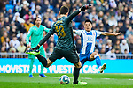 Thibaut Courtois of Real Madrid during La Liga match between Real Madrid and RCD Espanyol at Santiago Bernabeu Stadium in Madrid, Spain. December 07, 2019. (ALTERPHOTOS/A. Perez Meca)