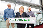 L - R Bert Ellingboe Dublin City University,  Anne Doherty, Happening Conferences and Event & Simon Elliott, Tyndall National Institute launching the 16th International Conference on Atomic Layer Deposition incorporating the 3rd International Workshop on Atomic Layer Etching