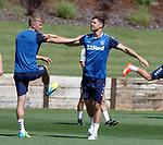24.06.2019 Rangers training in Algarve: Ross McCrorie and Matt Polster
