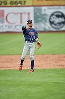 Antonio Pinero (3) of the Rocky Mountain Vibes during the game against the Ogden Raptors at Lindquist Field on July 4, 2019 in Ogden, Utah. The Raptors defeated the Vibes 4-2. (Stephen Smith/Four Seam Images)