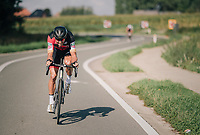 "Greg Van Avermaet (BEL/BMC) ""flappin' his wings"" early on in the race<br /> <br /> 8th Primus Classic 2018 (1.HC)<br /> 1 Day Race: Brakel to Haacht (193km / BEL)"