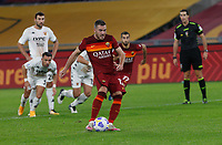Roma s Jordan Veretout scores on a penalty kick during the Serie A soccer match between Roma and Benevento at Rome's Olympic Stadium, October 18, 2020.<br /> UPDATE IMAGES PRESS/Riccardo De Luca