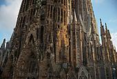Barcelona, Spain<br /> Catalonia<br /> June 22, 2021<br /> <br /> La Sagrada Familla, Antoni Gaudí's renowned unfinished church, started in the 1880s.