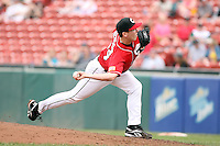 July 20th 2008:  Pitcher Randy Newsom of the Buffalo Bisons, Class-AAA affiliate of the Cleveland Indians, during a game at Dunn Tire Park in Buffalo, NY.  Photo by:  Mike Janes/Four Seam Images
