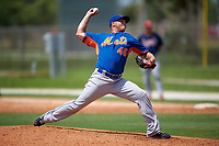 New York Mets Tim Peterson (45) during a minor league Spring Training game against the St. Louis Cardinals on March 31, 2016 at Roger Dean Sports Complex in Jupiter, Florida.  (Mike Janes/Four Seam Images)