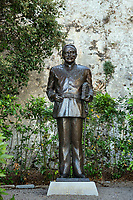 Prince Rainier III statue at the Place du Palais in Monaco.