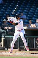 Peoria Javelinas outfielder Aaron Altherr (12), of the Philadelphia Phillies organization, during an Arizona Fall League game against the Mesa Solar Sox on October 16, 2013 at Surprise Stadium in Surprise, Arizona.  Mesa defeated Peoria 3-1.  (Mike Janes/Four Seam Images)