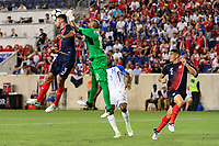Harrison, NJ - Friday July 07, 2017: Giancarlo González, Patrick Pemberton during a 2017 CONCACAF Gold Cup Group A match between the men's national teams of Honduras (HON) vs Costa Rica (CRC) at Red Bull Arena.