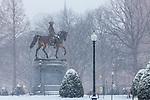 The George Washington statue (Thomas Ball, 1869) in the Boston Public Garden, Boston, Massachusetts, USA (Statue is PUBLIC DOMAIN)