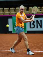 2016, 12 April, Arena Loire, Trélazè,  Semifinal FedCup, France-Netherlands, Kiki Bertens (NED)<br /> Photo:Tennisimages/Henk Koster