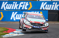 29th August 2020; Knockhill Racing Circuit, Fife, Scotland; Kwik Fit British Touring Car Championship, Knockhill, Qualifying Day; Jack Butel in action over the curbs during qualifying