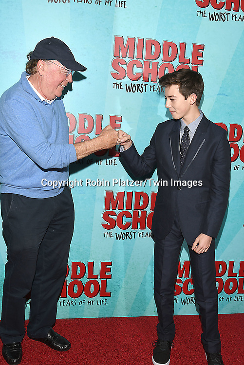 """author James Patterson  and Griffin Gluck attend the """"Middle School: The Worst Years of My Life"""" New York Screening on October 1, 2016 at the Regal E-Walk in New York, New York, USA.<br /> <br /> photo by Robin Platzer/Twin Images<br />  <br /> phone number 212-935-0770"""