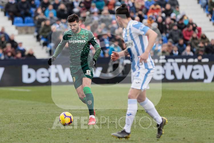 Real Betis Balompie's Antonio Barragan during La Liga match between CD Leganes and Real Betis Balompie at Butarque Stadium in Madrid, Spain. February 10, 2019. (ALTERPHOTOS/A. Perez Meca)