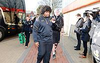 Photo: Richard Lane/Richard Lane Photography. Gloucester Rugby v Wasps. Aviva Premiership. 24/02/2018. Wasps' Ashley Johnson arrives.
