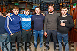 Carl Sheehy, Brendan Walsh, Patrick Sullivan, Pat Corridon and Aidan O'Sullivan enjoying the Cheltenham Gold Cup day on Friday in the Castle Bar.