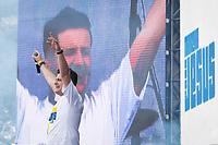SÃO PAULO, SP 20.06.2019: MARCHA PARA JESUS-SP - A dupla Andre e Felipe na 27ª edição da Marcha Para Jesus, maior evento cristão do mundo, acontece nesta quinta-feira, 20 na  zona norte da capital paulista. O evento contou com participação de bandas, cantoras e cantores do segmento gospel. (Foto: Ale Frata/Código19)