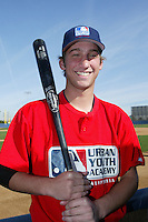 February 10 2008: Bryan Harr participates in a MLB pre draft workout for high school players at the Urban Youth Academy in Compton,CA.  Photo by Larry Goren/Four Seam Images