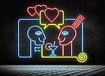Illustrative image of couple enjoying in night club