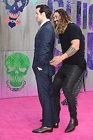 """Henry Cavill and Jason Momoa<br /> arrives for the """"Suicide Squad"""" premiere at the Odeon Leicester Square, London.<br /> <br /> <br /> ©Ash Knotek  D3142  03/08/2016"""