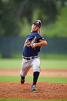 GCL Braves relief pitcher Anthony Guardado (61) during a game against the GCL Phillies on August 3, 2016 at the Carpenter Complex in Clearwater, Florida.  GCL Phillies defeated GCL Braves 4-3 in a rain shortened six inning game.  (Mike Janes/Four Seam Images)